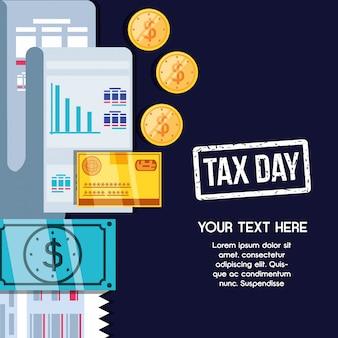 Día de impuestos con comprobante