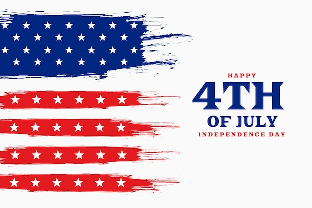 Día de la independencia 4 de julio fondo americano