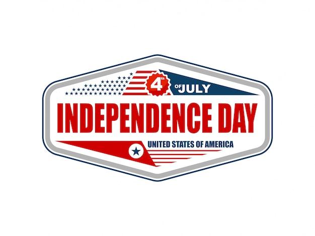 Día de la independencia de américa 4 de etiqueta de julio