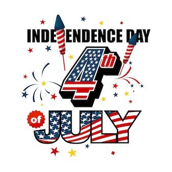 Día de la independencia de américa el 4 de julio.