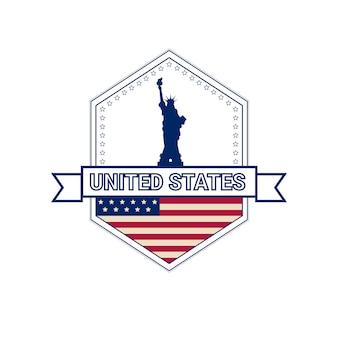 Día de la independencia de la bandera de estados unidos
