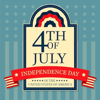 Día de la independencia con cinta