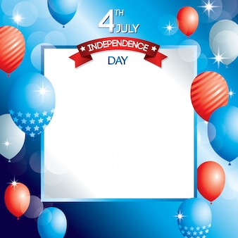 Día de la independencia estados unidos de américa diseño