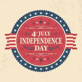 Día de la independencia de estados unidos estilo vintage
