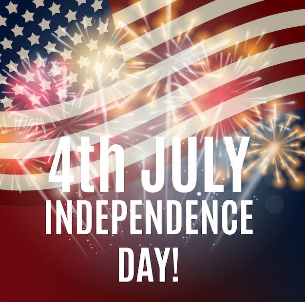 Día de la independencia en los estados unidos de fondo. se puede usar como banner o pos