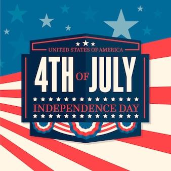 Día de la independencia con estrellas