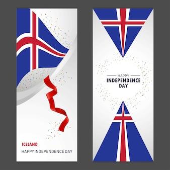 Día de la independencia feliz de islandia
