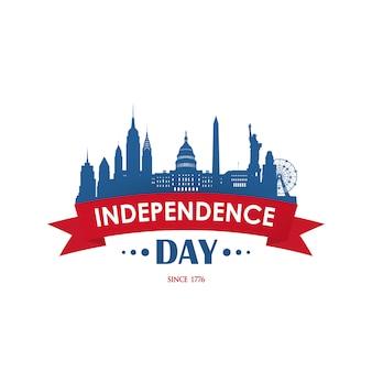 Día de la independencia festiva nacional estadounidense.