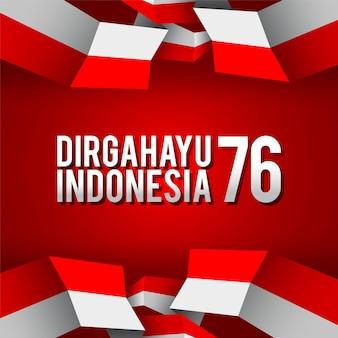 Día de la independencia de indonesia 76 ilustración vectorial