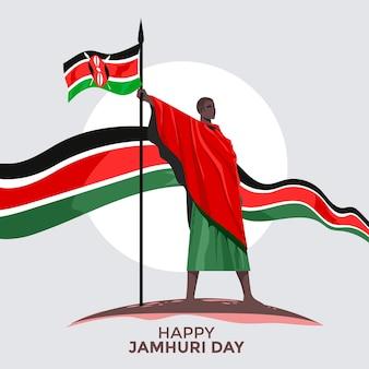 Día de la independencia de kenia o concepto de feliz día de jamhuri