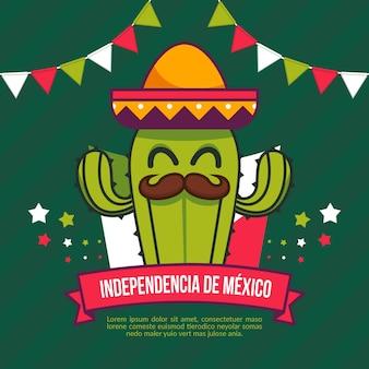 Día de la independencia de méxico en diseño plano
