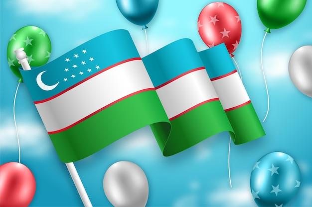 Día de la independencia de uzbekistán con globos.