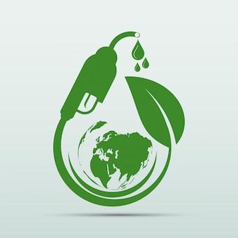 Día internacional del biodiésel para la ecología y la ayuda medioambiental el mundo con ideas ecológicas