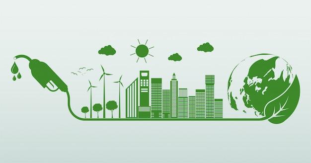 Día internacional del biodiesel. la ecología y el medio ambiente ayudan al mundo con ideas ecológicas