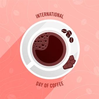 Día internacional del café ilustrado.