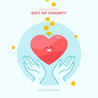 Día internacional de caridad con corazón