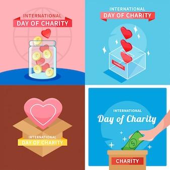 Día internacional de la caridad diseño ilustración vectorial