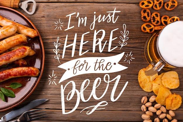 Día internacional de la cerveza - letras con foto