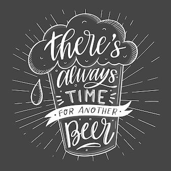Día internacional de la cerveza - rotulación