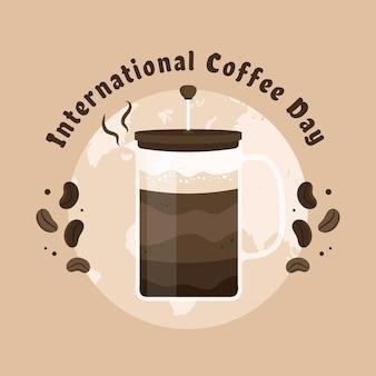Día internacional del concepto de café.