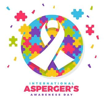 Día internacional de concientización sobre el asperger en diseño plano