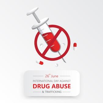 Día internacional contra el abuso de drogas.