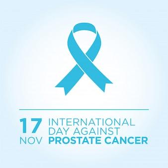 Día internacional contra la bandera del cáncer de próstata.