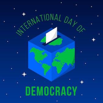 Día internacional de la democracia voto y tierra