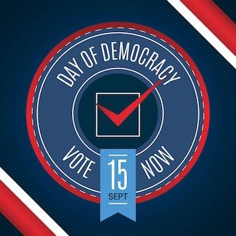 Día internacional de la democracia con voto.