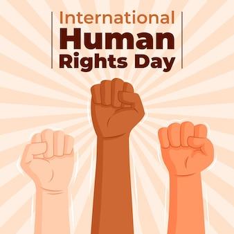 Día internacional de los derechos humanos plano