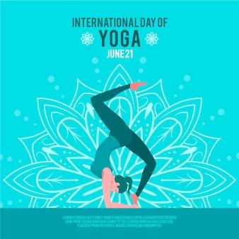 Día internacional del diseño plano de yoga