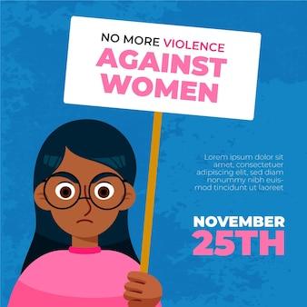 Día internacional para la eliminación de la violencia contra la ilustración