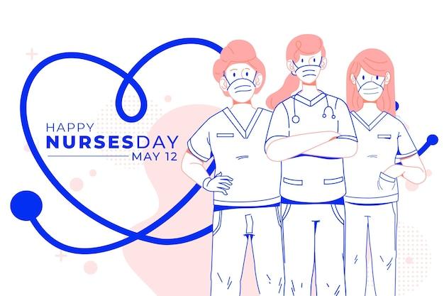 Día internacional de las enfermeras ayudando al concepto de personas