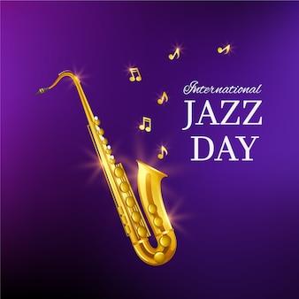 Día internacional del jazz con saxofón