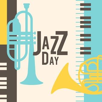 Día internacional del jazz vintage