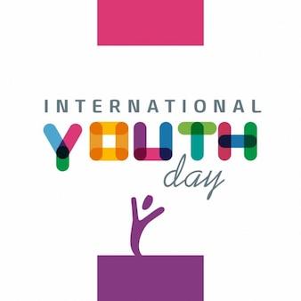 Día internacional de la juventud , a todo color