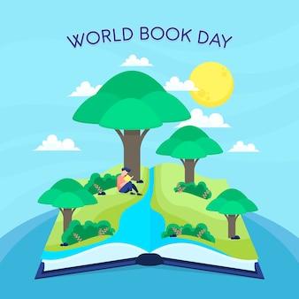 Día internacional del libro concepto de mente clara