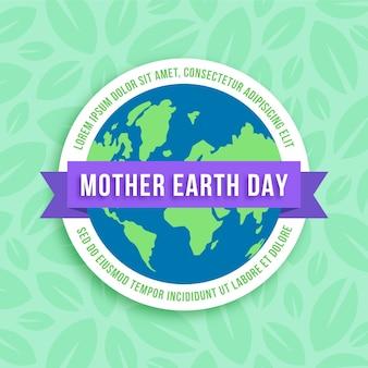 Día internacional de la madre tierra de diseño plano