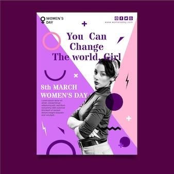 Día internacional de la mujer a5 vertical.