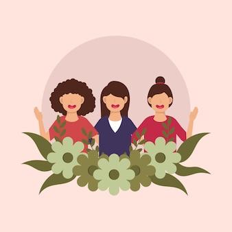 Día internacional de la mujer feliz.