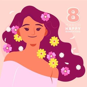 Día internacional de la mujer floral