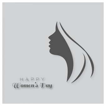 Día internacional de la mujer, fondo gris