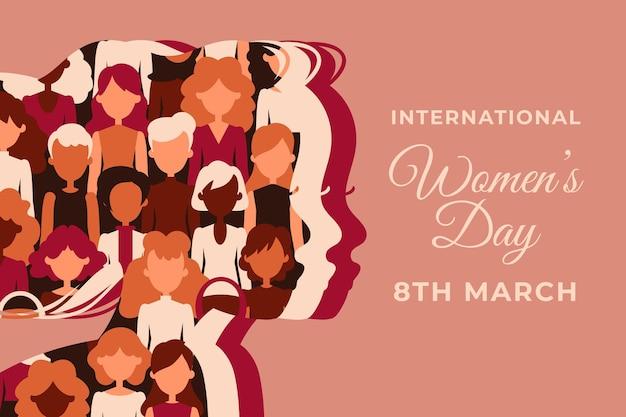 Dia internacional de la mujer plana