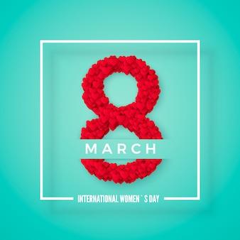 Dia internacional de la mujer. postal de saludo. concepto de banner de sitio web. ilustración