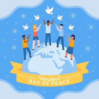 Día internacional de paz con la gente.