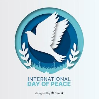 Día internacional de la paz con paloma
