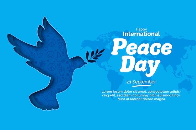 Día internacional de la paz en papel
