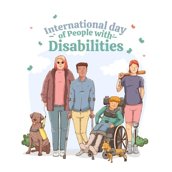 Día internacional plano de las personas con discapacidad.
