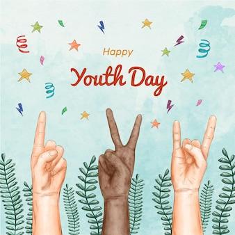 Día de la juventud en acuarela