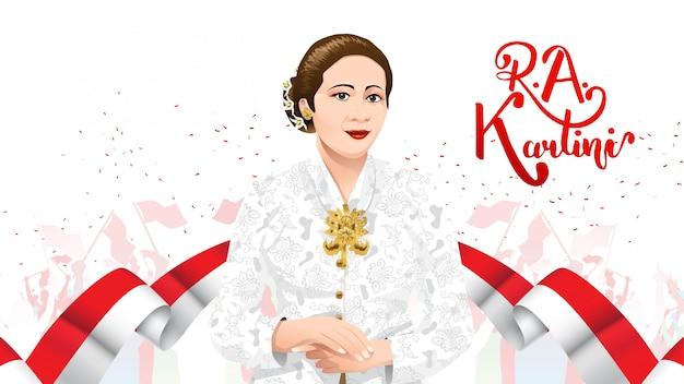 Día de kartini, ra kartini, los héroes de las mujeres y los derechos humanos en indonesia